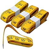 HSELL® Pack of 4pcs 300cm/120 Inch Double-scale Soft Tape Weight Loss Medical Body Measurement Sewing Tailor Cloth Ruler Dressmaker Flexible Ruler Heavy Suty Tape Measure