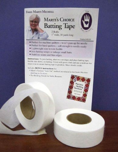 Marti's Choice Batting Tape 1 Inch Wide, 30 Yards Long, 2 Rolls Per Package (Quilting Sewing Maching compare prices)