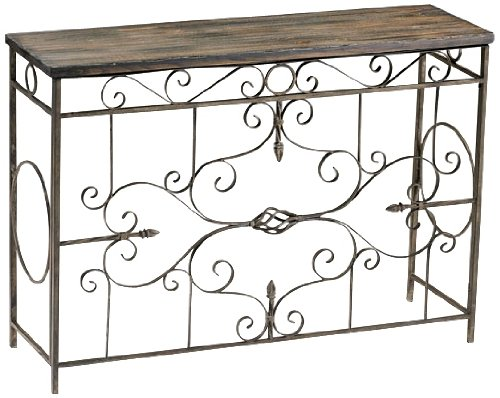 Cheap Schafer Iron Scroll Console Table (B003VSAJ4K)