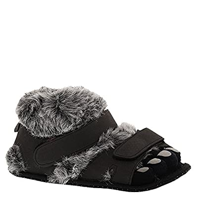 Comfy Feet Hairy Feet Black/Gray Slippers