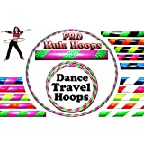 PRO Hula Hoops (100cm/39') Weighted TRAVEL Hula Hoop / Hula Hoops For Exercise, Dance & Fitness! (660g) NO Instructions Needed - Same Day Dispatch!