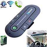 Signstek Portable Multipoint Wireless Hands-Free Bluetooth Sun Visor In-Car Speakerphone Car Kit*Black*
