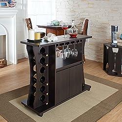 Tiko Modern Espresso Buffet with Wine Rack by Furniture of America