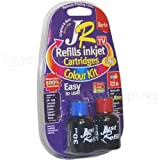 JR Inkjet Printer Ink Cartridge Refill Kit | Colour MultiPack | 3 x 30ml