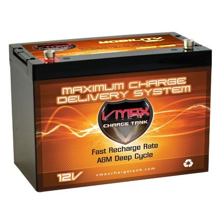 Vmaxmb127 Agm Group 27 Deep Cycle Battery Replacement For 21St Century Bounder Plus H-Frame 12V 100Ah Wheelchair Battery