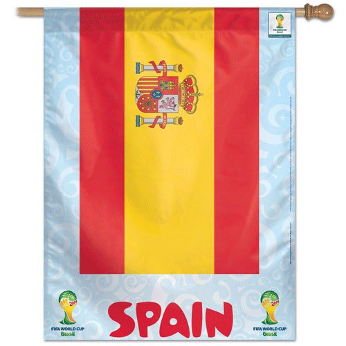 "Spain - 27"" x 37"" Country World Cup 2014 Vertical Banner"