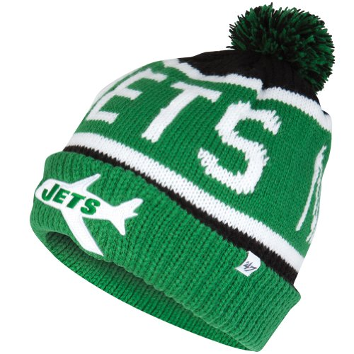 Nfl New York Jets Men'S Calgary Knit Cap, One Size, Black front-900753
