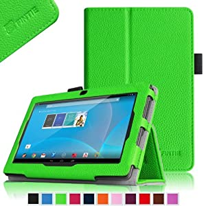 """Fintie Chromo 7"""" Android Tablet Folio Case Cover - Premium Leather With Stylus Holder for Chromo Inc.® 7"""" Tab [ Model September 2013 Front Camera Only] - Green from Fintie"""