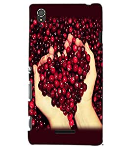 SONY XPERIA T3 BERRIES Back Cover by PRINTSWAG