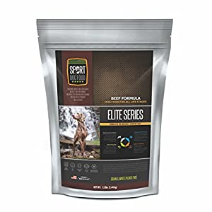 SportDogFood Elite Grain Free Dog Food, Beef Formula, 12-Pound