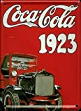 COCA COLA TRUCK 1923 Small Vintage Tin Metal Pub Sign