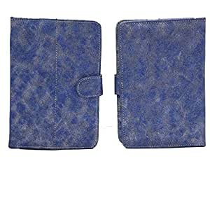 Jo Jo G6 METAL Yb Flip Flap Case Cover Pouch Carry For Karbonn Smart Tab 1 Blue