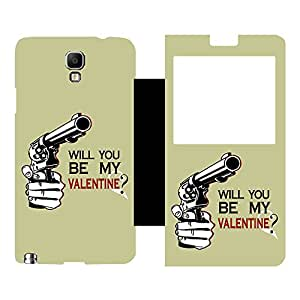 Phone Candy Designer Flip Cover with hi-res printed Vinyl sticker wrap-around for Samsung Galaxy Note 3 Neo N7505