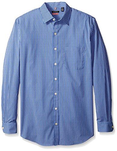 Van heusen men 39 s big tall long sleeve no iron stretch mini for Van heusen iron free shirts