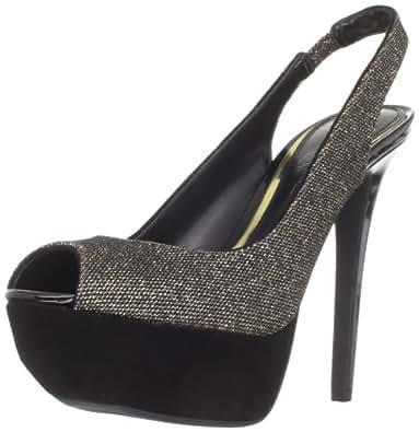 Jessica Simpson Women's Js-Halie2 Platform Sandal,Platinum Glitter Mesh,5 M US