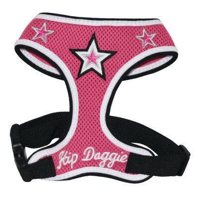 Hip Doggie Pink Super Star Mesh Harness Vest, XXX-Large