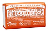 Dr Bronner All-One Hemp Tea Tree Pure-Castile Soap Bar 140g