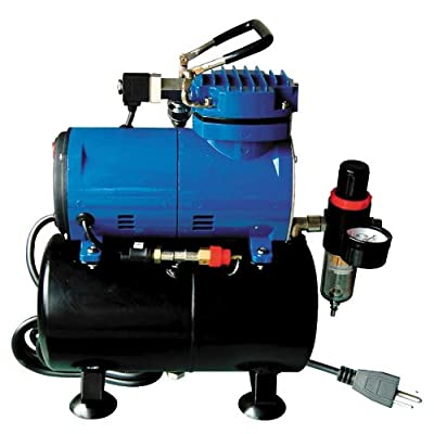 Paasche D3000R 1/8 HP Compressor with Tank, Regulator and Moisture Trap