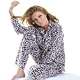 Ladies Cozy Fleece Pajama Set