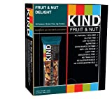 KIND Fruit & Nut, Fruit & Nut Delight, All Natural, Gluten Free Bars (Pack of 12)