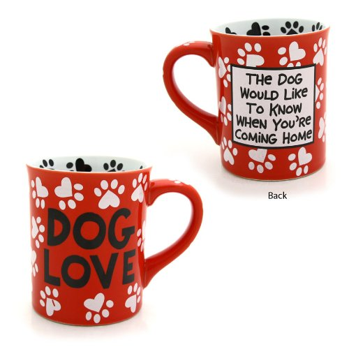 Enesco 4026114 Our Name Is Mud by Lorrie Veasey Dog Love Mug, 4-1/2-Inch