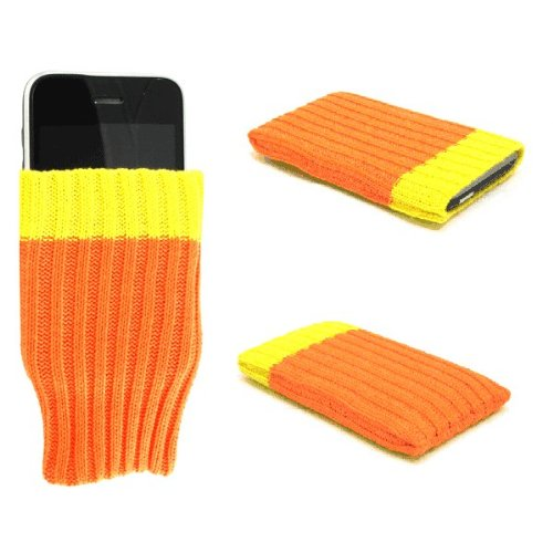 """Einzigartige Handy-Socke / Hülle / Schale """"Wow"""", orange, geeignet für Samsung Duos Touch . Original Schale / Hülle / Folie & Tasche für Handys"""