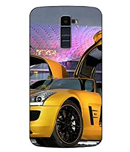 Case Cover Car Printed Multicolor Hard Back Cover For LG K10