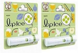 2 X Mentholatum LipIce Fruity Lip Balm SPF15 - Apple