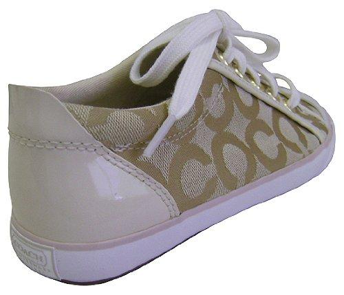 coach barrett alex op light khaki tennis shoes