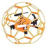 Skytech M70mini オレンジ 2.4G 4CH 6軸ジャイロ ミニ ドローン 3D外転 フライング RC ラジコン ヘリコプター プロテクター付き