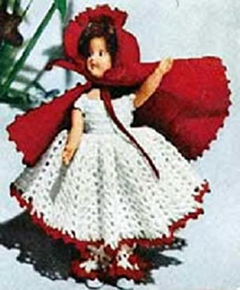 Knitting Pattern For Little Red Riding Hood Doll : LITTLE RED RIDING HOOD DOLL Vintage 1951 Crochet Pattern ...