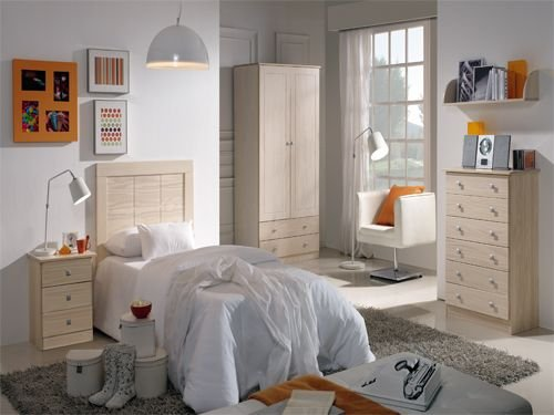 Dormitorio juvenil blanco decape for Dormitorios juveniles en amazon