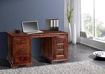Kolonialmöbel Schreibtisch Akazie massiv Holz OXFORD #420