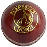 KKS Crown Youth's Leather Cricket Ball Standard (Red & White)