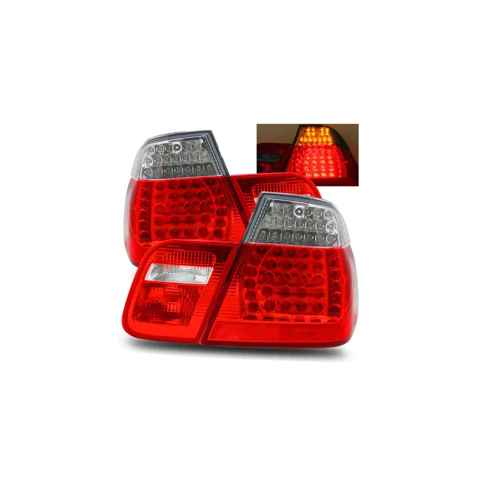 BMW 323i 2000 LED Tail Lights Red Clear 4PCS (Fits Base Wagon 4 Door)