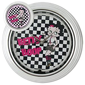 Amazoncom sexy betty boop mini skirt black pink retro for Betty boop neon wall clock