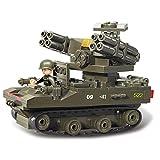 Sluban M38-B0289 Air-Raid Drill Set Blocks Army Bricks Toy - Tor Anti-Aircraft Missiles & Abrams Tank