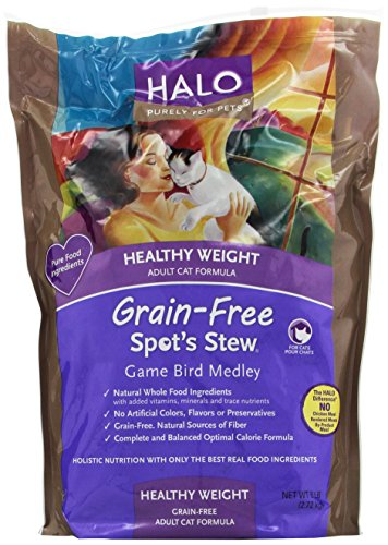 Halo Spot's Stew Adult Cat Healthy Weight Grain Free Game Bird Medley