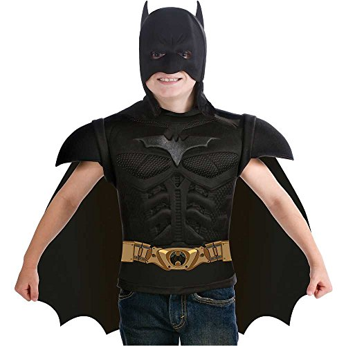 Dark Knight: Batman Muscle Shirt Kids Costume Kit - Small