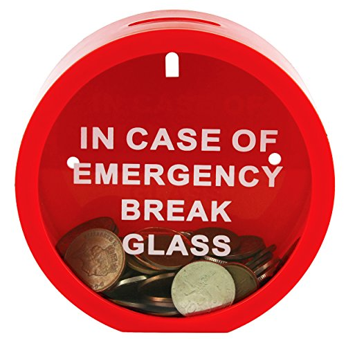 Fairly Odd Novelties Emergency Money Box Savings Bank in Case of Emergency Break Glass - 1