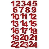 "Filz-Sticker ""Adventskalender"" 24 Stück"