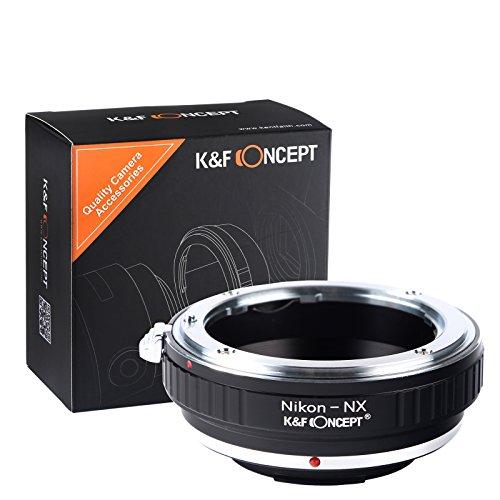 Nikon Mount per Samsung NX Lens Camera Body, K&F Concept Adattatore di obiettivo per NX2000 NX10 NX100 NX1 NX500 NX300