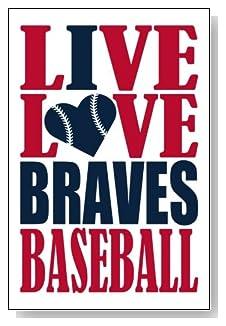 Live Love I Heart Braves Baseball lined journal - any occasion gift idea for Atlanta Braves fans from WriteDrawDesign.com