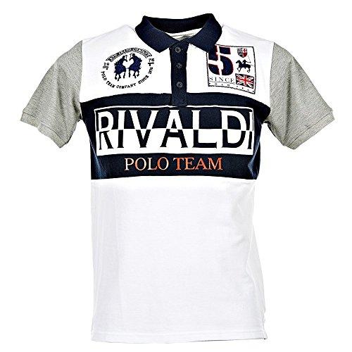 Rivaldi Pokalin, Polo Uomo, Bianco, XXL