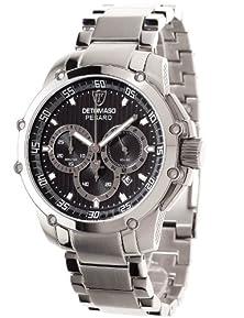 buy Detomaso Men'S Dt1042-C Pesaro Xxl Chronograph Classic Schwarz/Silber Analog Display Japanese Quartz Silver Watch