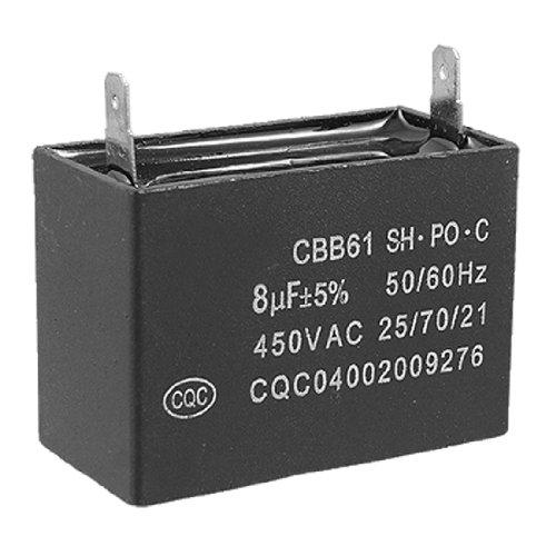 Cbb61 Air Conditioner Fan Motor Start Capacitor 8Uf 450V Ac 50/60 Hz