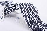(サルバトーレ・フェラガモ) Salvatore Ferragamo イタリア製シルク100%ネクタイ 大剣巾9cm ネービー フラワー