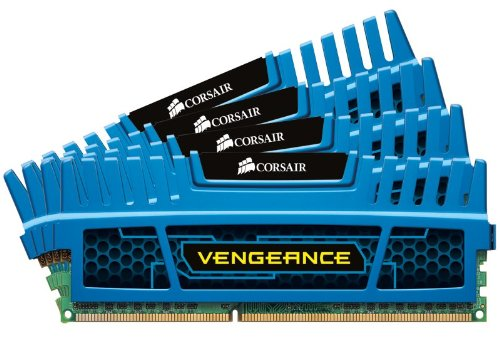 Corsair Vengeance - Kit de memoria RAM de 16 GB  (DDR3, 4 x 4 GB, 2133 MHz, CL11), color azul