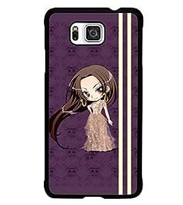 PrintDhaba Long Hair Doll D-4810 Back Case Cover for SAMSUNG GALAXY ALPHA (Multi-Coloured)