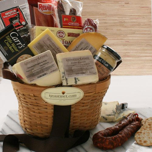 Connoisseur's Meat and Cheese Gift Basket (7.6 pound)